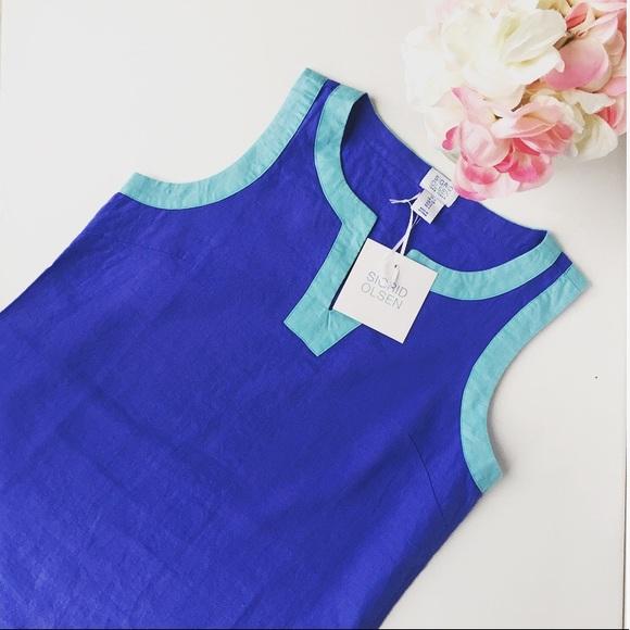 5a829e39c3 New Sigrid Olsen Linen Tunic Dress
